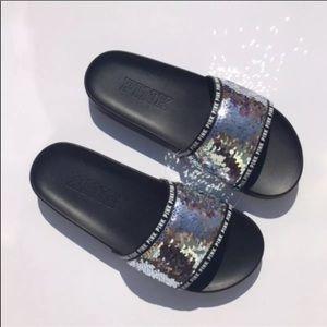 PINK Victoria's Secret Pants - Victoria's Secret PInk BLING Slides Size M 7/8 NEW